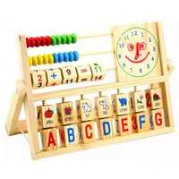Wooden Children Baby Kid Educational Calculate Learning Developmental Abacus Toy