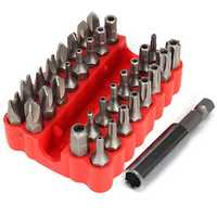 33pcs Magnetic Screwdriver Bit Set Torx Hex Star Spanner Tri Wing Electric Screwdriver Hex Bits with Holder