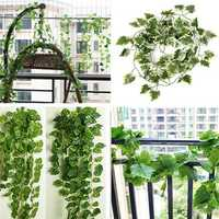 2m Artificial Ivy Grape Vine Green Leaves Garland Home Garden Decoration