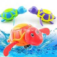 Wind Up Turtles Water Shower Swimming Pool Bathtub Chain Animal Clockwork Floating Kids Children Toy