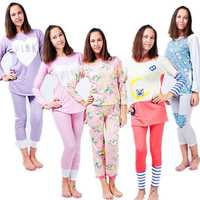 Autumn Women Lady Loose Cotton Leisure Home Sleepwear Milk Silk Pajamas Sets Lungewear