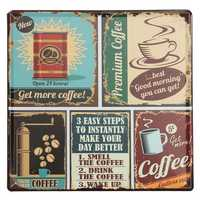 Coffee Tin Sign Vintage Metal Plaque Poster Bar Pub Home Wall Decor