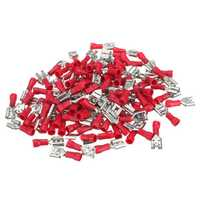 100pcs 22-16AWG RED Female Insulated Quick Disconnects Wire Crimp Terminals