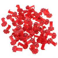 50pcs Scotch Lock Quick Splice 22-18 AWG Wire Connector Red