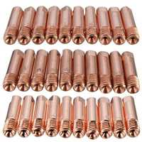 10 Pcs MB-15AK M6 MIG/MAG Welding Torch Contact Tip Gas Nozzle 0.8/1.0/1.2mm