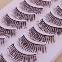 10 Pair Natural False Eyelashes Eye Lash Makeup 043