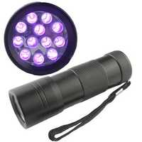 12 LED BlackLight Ultra Violet UV Flashlight Torch Lamp