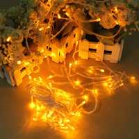 100 LED 10m Yellow String Decoration Light For Christmas 110V 220V