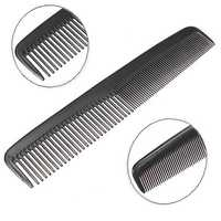 Black Plastic Unisex Hair Space Tooth Comb Pocket Durable Portable Salon Barber