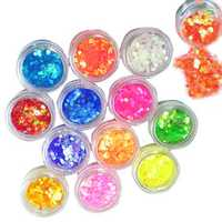 12 Color Nail Art Hexagon Shiny Glitter Powder 2mm Set
