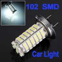 Car H7 3528 102 SMD LED Head Light Headlight Bulb Lamp