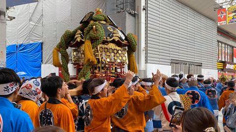 我在熊本參與九州・火の国元気祭。