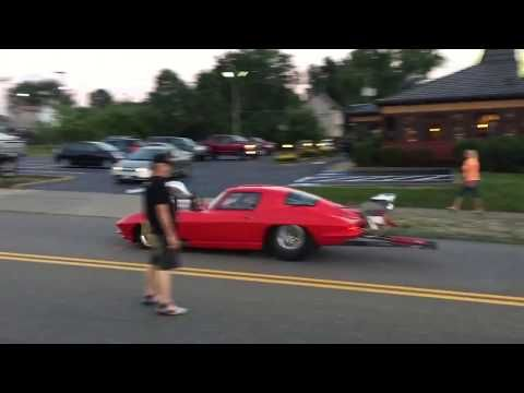 Corvette Burn Out Up State Street l Midnight Cruise 2017