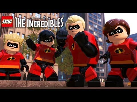 LEGO THE INCREDIBLES 1 All Cutscenes (Game Movie) 1080p 60FPS