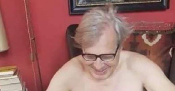 Vittorio Sgarbi, Lorenzo Fioramonti pubblica la sua foto nudo: Vado fiero di averlo rimosso