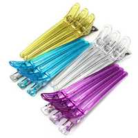 12Pcs Colorful Salon Hairdressing Clips Clamps Hair Grip