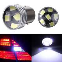 2 x HID White 1156 P21W 6-2835SMD LED Projector Backup Reverse bulbs