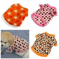 Soft Fleece Shirt Hoody Leopard Star Square Pet Dog Clothes