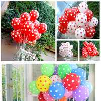 100pcs 12 Inch Wedding Party Balloons Wedding Room Dot Balloons Room Party Decoration