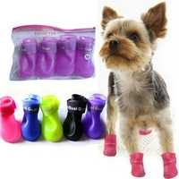 Waterproof Skidproof Pet Dog Rain Protective Rubber Shoes Booties