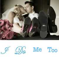 I DO ME TOO Wedding Shoe Stickers Bridal Rhinestones Shoes Sticker Wedding Decoration