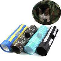 Multicolor Folding Pet Cat Rabbit Fun Tube Tunnel Size 35
