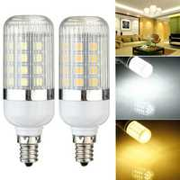 E12 Dimmable 4.5W 36 SMD 5050 LED Corn Light Bulb Lamp 110V