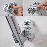 Bathroom Adjustable Rotatable Silver Shower Head Bracket Holder