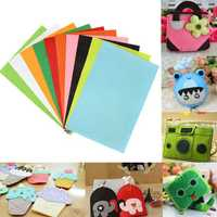 10pcs 30x20cm Mixed Colours Non-woven Fabrics Felt For DIY Art Handicraft