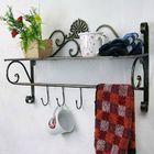 Bon prix Iron Craft Wall Hanging Towel Rack Bathroom Storage Shelf