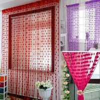 Beautiful Tassel Heart-Shaped Door Window Curtain Home Decorations