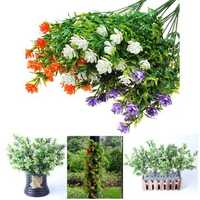 5 Artificial Eucalyptus Plastic Flower Home Office Party Decor