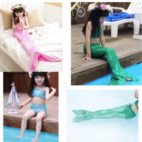 Girl Little Mermaid Tail Bikini Set Swimmable Swimming Princess Costume Swimsuit