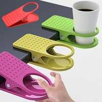 Honana Table Desk Cup Holder Clip Home Office Table Desk Side Huge Side Drink Clip Coffee Holder