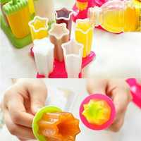 6Pcs DIY Ice Cream Frozen Popsicle Mold Block Juice Lolly Tray