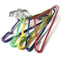5Pcs Non-Slip Coat Clothes Hanger Shirt Trouser Hanging Hook