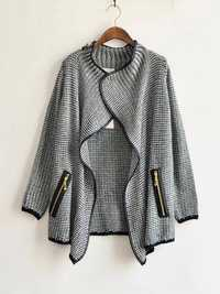 European Style Women Loose Knitted Cardigan Sweater Casual Jacket Coat