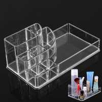 Clear Acrylic Makeup Cosmetic Box Organiser Display Storage Case