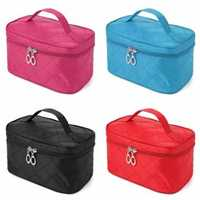 4 Colors Portable Makeup Cosmetic Case Storage Handbag Travel Bag
