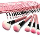 Bon prix LuckyFine 32pcs Makeup Brushes Set Professional Cosmetic Brush Set Pink Eyeshadow Eyebrow Blush