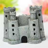Aquarium Miniature Double Castle Landscape Fish Tank Decoration