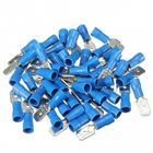 Acheter au meilleur prix 100pcs Male + Female Blue Semi Insulated Spade Crimp Connectors