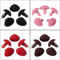 5Pcs Plastic Triangle Velvet Noses Buttons Eyes DIY For Bear Toy