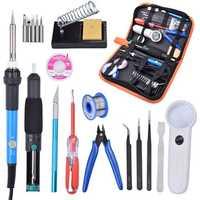 60W 220V Adjustable Temperature Soldering Iron Tools Kit with Desoldering Pump Soldering Iron Stand