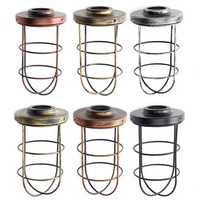 Iron Vintage Ceiling Pendant Light Lamp Cover Long Shape Cage Bar Cafe Lampshade