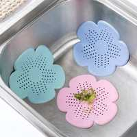 Honana Bathroom Flower Shape Suction Cup Silica Gel Sink Bathtub Drain Protector Hair Lint Filter Tool Drain Hole Stopper