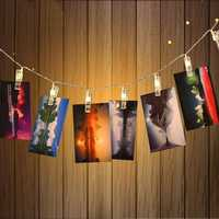 KCASA 1.5M 10 LED Photo Clip String Lights LED Fairy Lights for Festival Christmas Party Wedding Decoration Battery Powered