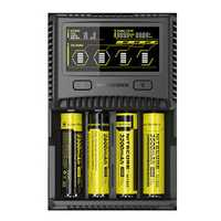 Nitecore SC4 LCD Display USB Rapid Intelligent Li-ion/IMR/LiFePO4/Ni-MH Battery Charger For Almost all Battery