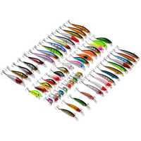 ZANLURE Lot 56 Mixed Minnow Fishing Lures Bass Baits Crankbaits Sharp Hooks Tackle Set
