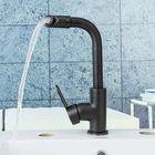 Promotion Kitchen Bathroom Basin Sink Faucet Bath Cold/Hot Mixer Water Tap 360° Rotation Black Matte